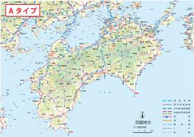 日本 日本地図 四国地方 : 地方図−四国地方【有料地図 ...
